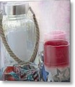 Red White And Blue Metal Print by Judy Hall-Folde