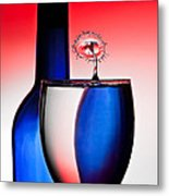 Red White And Blue Reflections And Refractions Metal Print by Susan Candelario