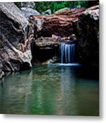 Remote Falls Metal Print by Chad Dutson