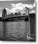 Roberto Clemente Bridge Pittsburgh Metal Print