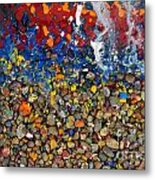 Rocks Splattered With Paint Metal Print by Amy Cicconi