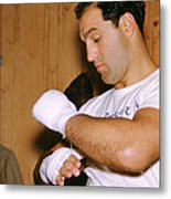 Rocky Marciano Getting Ready Metal Print