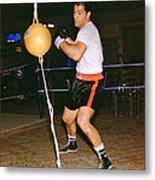 Rocky Marciano Training Metal Print