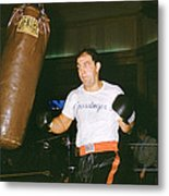 Rocky Marciano Working Heavy Bag Metal Print by Retro Images Archive