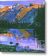 Rocky Mountain Lake Metal Print by David Lloyd Glover