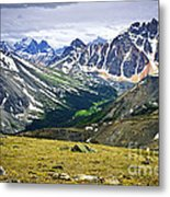 Rocky Mountains In Jasper National Park Metal Print by Elena Elisseeva