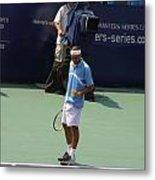 Roger Federer After 1st Slam Metal Print