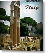 Rome Italy Poster Metal Print