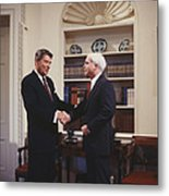 Ronald Reagan And John Mccain Metal Print