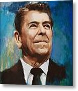 Ronald Reagan Portrait 6 Metal Print by Corporate Art Task Force