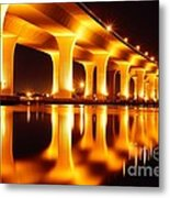 Roosevelt Bridge Metal Print by Lynda Dawson-Youngclaus