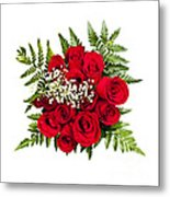 Rose Bouquet From Above Metal Print