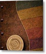 Rose Button Metal Print by Tom Mc Nemar