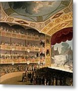 Royal Circus From Ackermanns Repository Metal Print by T. & Pugin, A.C. Rowlandson