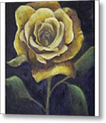 Royal Gold Bloom Metal Print by Nancy Edwards