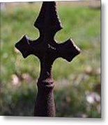 Rusty Cross Metal Print by Kelly Kitchens