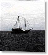 Sail In Black Sea- Viator's Agonism Metal Print