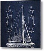 Sailboat Patent Drawing From 1927 Metal Print