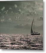 Sailing Metal Print by Akos Kozari