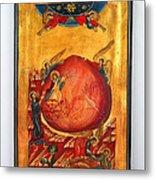 Saint Prophet Elias Hand Painted Russian Byzantine Icon  Metal Print