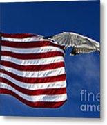 Salute The Flag Metal Print by Tim Wilson