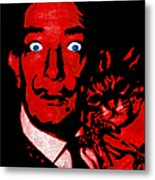 Salvador Dali And Friend 20130212v2 Metal Print by Wingsdomain Art and Photography