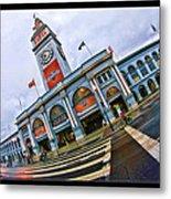 San Francisco Ferry Building Giants Decorations. Metal Print