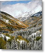 San Juan Mountains After Recent Snowstorm Metal Print