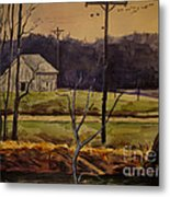 Sandhill Cranes Over The Eel Metal Print by Charlie Spear