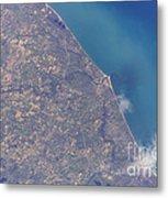 Satellite View Of St. Joseph Area Metal Print by Stocktrek Images