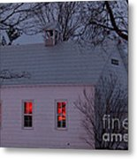 School House Sunset Metal Print