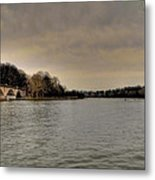 Schuylkill River On A Cloudy Day Metal Print by Bill Cannon