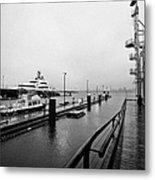 seaspan marine tugboat dock city of north Vancouver BC Canada Metal Print by Joe Fox