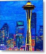 Seattle Space Needle 20130115v1 Metal Print