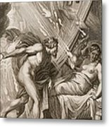 Semele Is Consumed By Jupiters Fire Metal Print by Bernard Picart