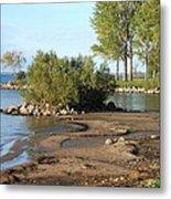 Serene Shores Of The St. Lawrence Metal Print by Margaret McDermott