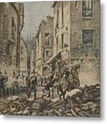Serious Troubles In Italy Riots Metal Print