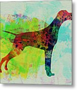 Setter Pointer Watercolor Metal Print