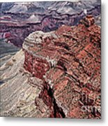 Shades Of Red In The Canyon Metal Print