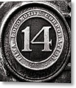 Shay 14 Lima Locomotive Number Plate Metal Print by Ken Smith