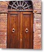 Sienna Door Metal Print