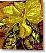 Silky Magnolia Metal Print by Marsha Heiken