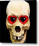 Skull Art - Day Of The Dead 2 Metal Print by Sharon Cummings