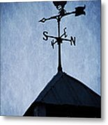 Skyfall Deer Weathervane  Metal Print by Edward Fielding