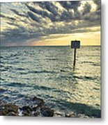 Slow Speed Sign Metal Print by Eyzen M Kim