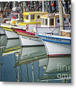 Small Fishing Boats Of San Francisco  Metal Print by George Oze