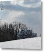 Snow Covered Driveway Metal Print by Tina M Wenger