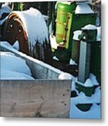 Snow Covered Tractor Metal Print by PainterArtist FIN