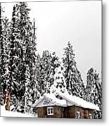 Snow House- Gulmarg- Kashmir- India- Viator's Agonism Metal Print by Vijinder Singh