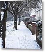 Snowy Path Metal Print by Tom Gowanlock